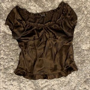 Silky baby doll blouse